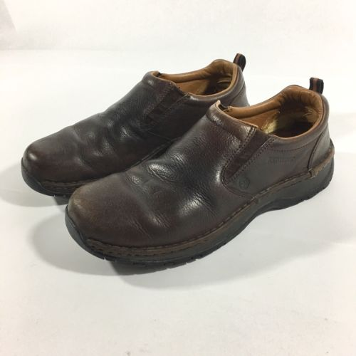 Red Wing Slip On Shoes Brown Men's 10.5 D Static Dissipative Aluminum Toe 8702