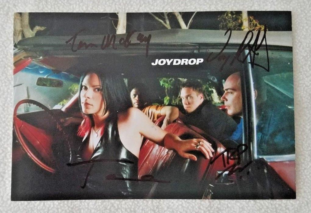 JOYDROP Band Signed 4x6 Postcard 2001 Autographed Tara Slone Joy Drop Hockey