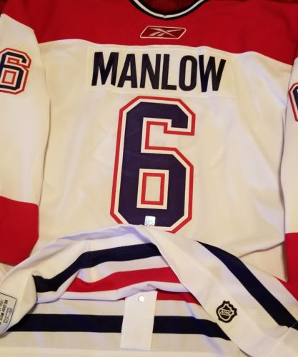 MANLOW MONTREAL CANADIENS GAME WORN USED JERSEY BRUINS BLACKHAWKS AHL OHL NHL
