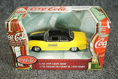 Coca-Cola Die-Cast 1/43 Scale 1949 Coupe Coin Bank