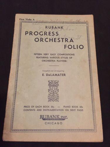 Rubank Progress Orchestra Folio for Piano Accordion - waltz, dance, reverie