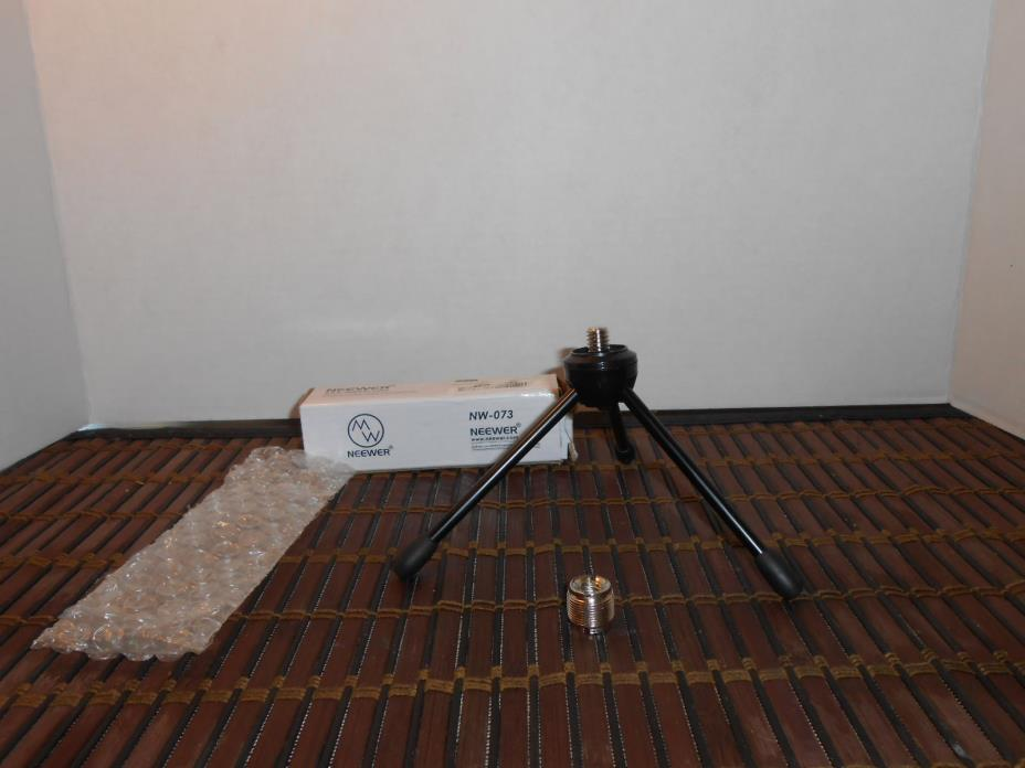 Neewer Black NW-073 Microphone  Desktop Tripod Stand  3/8 - 5/8 Adapter included