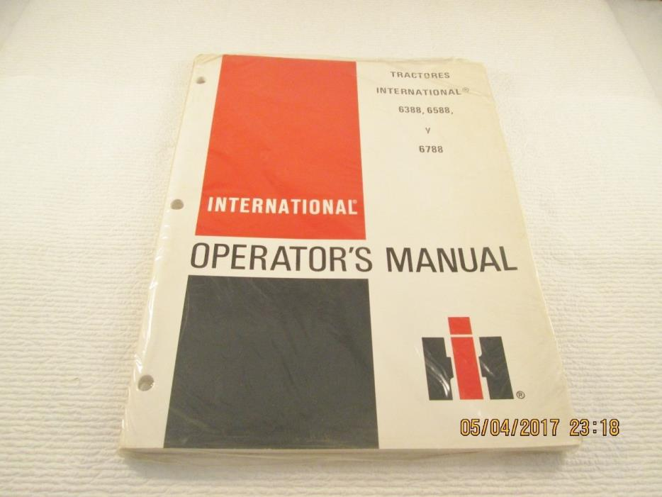 INTERNATIONAL 3088 3288 3488 HYDRO 3688 TRACTORES OPERATOR'S MANUAL (Spanish)