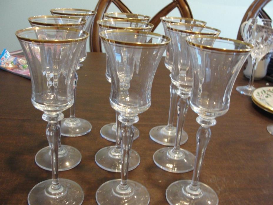 MIKASA JAMESTOWN 9 WINE GLASSES 8 3/4