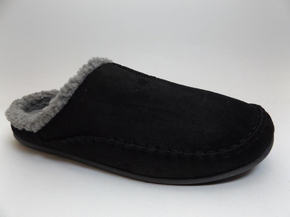 MEN'S Deer Stags Slipperooz BLACK Microsuede Nordic Slipper SZ 10.0 WIDE  D5263