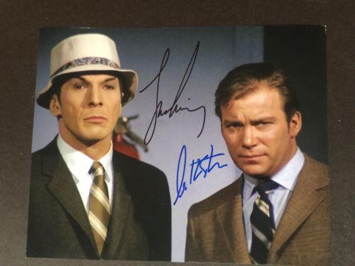 Leonard Nimoy & William Shatner signed Star Trek photo 8x10 UACC REG DEALER SALE
