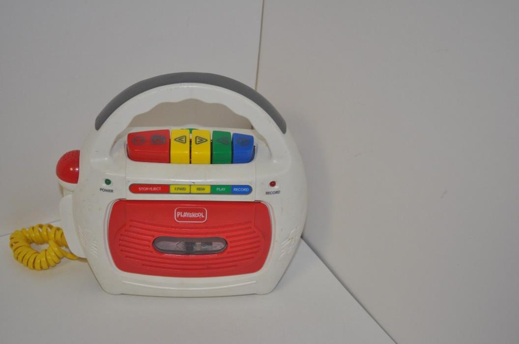 PLAYSKOOL  TAPE RECORDER WITH SING-A-LONG MICROPHONE PS-452 *USED*