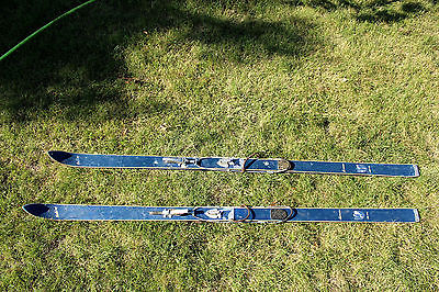 Vintage Holiday Laminated Sno-Pro Downhill Skis Skiing Winter Sports Slopes Hill