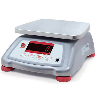 Ohaus V22PWE6T Valor 2000 Compact Food Bench Scale, 6 lb Capacity