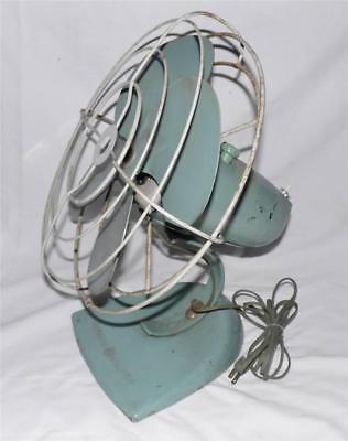 1950s Vintage GREEN General Electric GE Oscillating 2-Speed Desk Fan F17S125