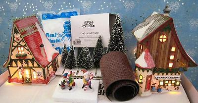 Dept 56 North Pole Start A Tradition Gift Wrap Ribbons Candy Cane Peppermint Set