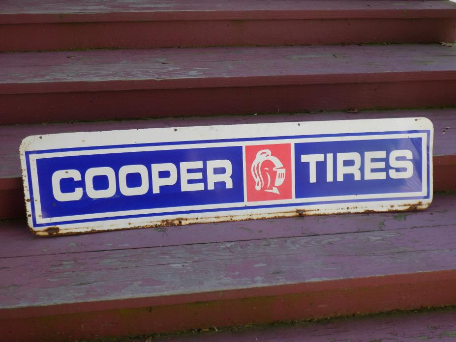 Cooper Tire Double Sided Sign
