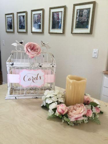 Decor Special Day Room Card Storage Safe Ivory Birdcage Wedding Gift Card Holder