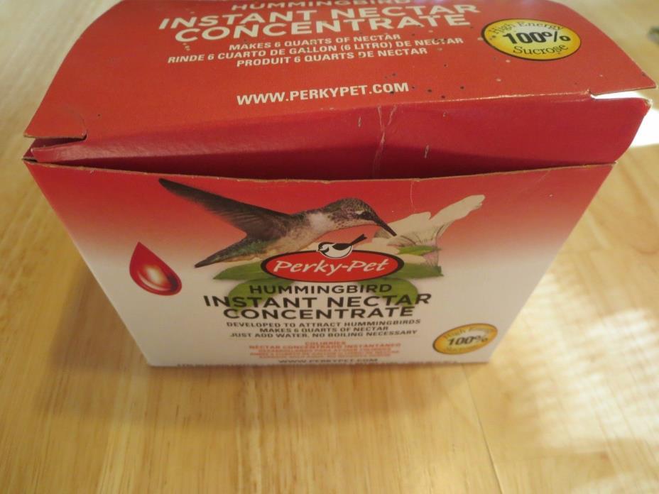 Perky-Pet Hummingbird Instant Nectar Concrete, NIB