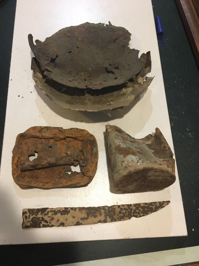 Misc. Relics from civil war hutsite north of Winchester.