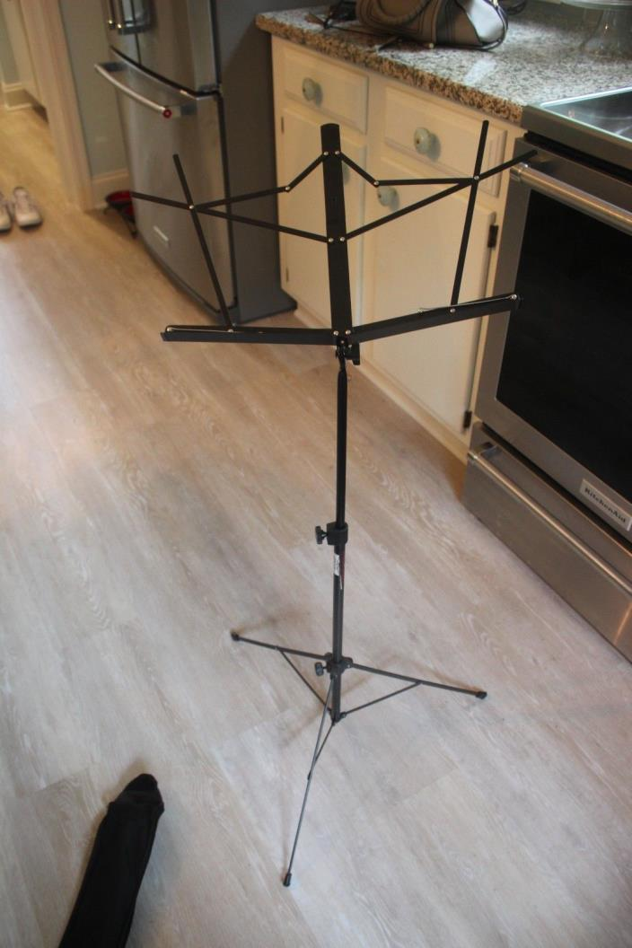 On Stage Stands SM7022BB Folding Music Stand w/ Bag BLACK