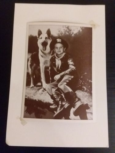Vintage photo Lee Aeker as Rusty with Rin Tin Tin