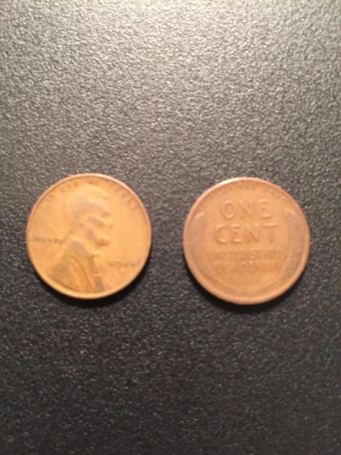 1944-S ROLL LINCOLN WHEAT HEAD ONE CENT PENNY 1C (CIRCULATED) - 50 Coins