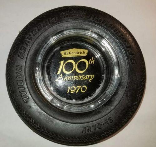 vintage 1970 BF Goodrich 100th anniversary tire ashtray