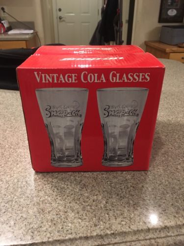 New 2006 Snap-On Vintage Cola Glasses Set Of Four Stock #SSX06S113Q2