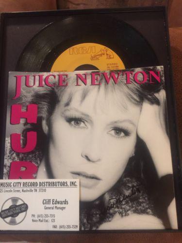 SIGNED JUICE NEWTON SINGLE LP ALBUM COVER LIFETIME COA W/ALBUM Sale