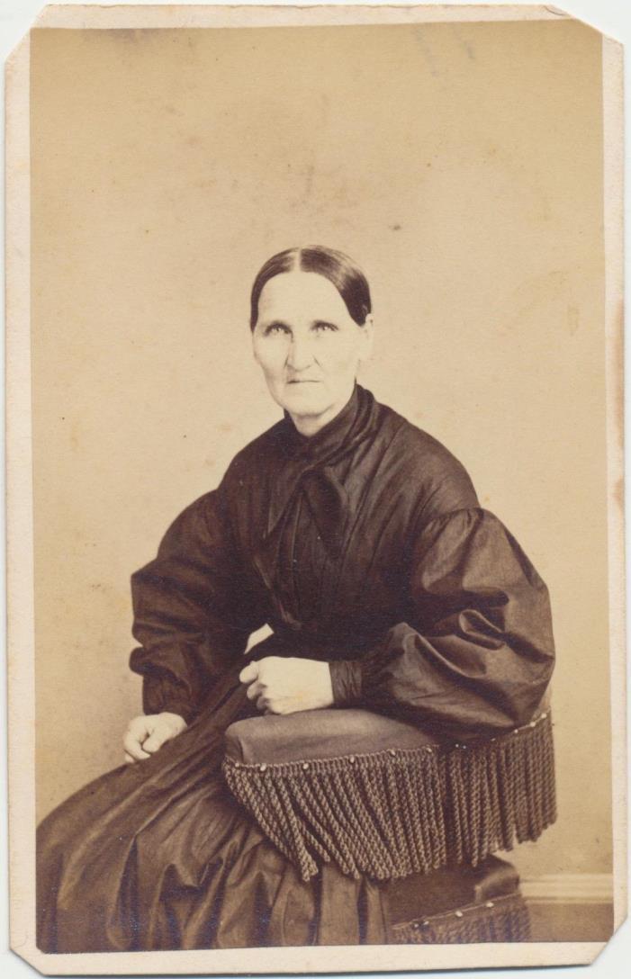1860s ANTIQUE CDV PHOTO CIVIL WAR TAX REVENUE STAMP CARTE de VISITE #32