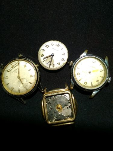 Watches for Parts or Repair. Bulova. Wadsworth. Benrus. Vintage.