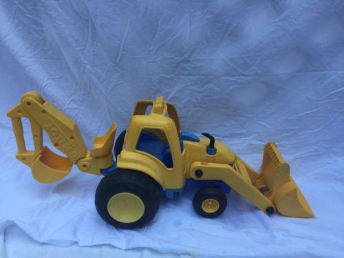 Tonka Backhoe Shovel Construction Toy Truck Yellow Blue