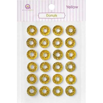 Queen & Co Donuts Self-Adhesive 24/Pkg Yellow 876387006399
