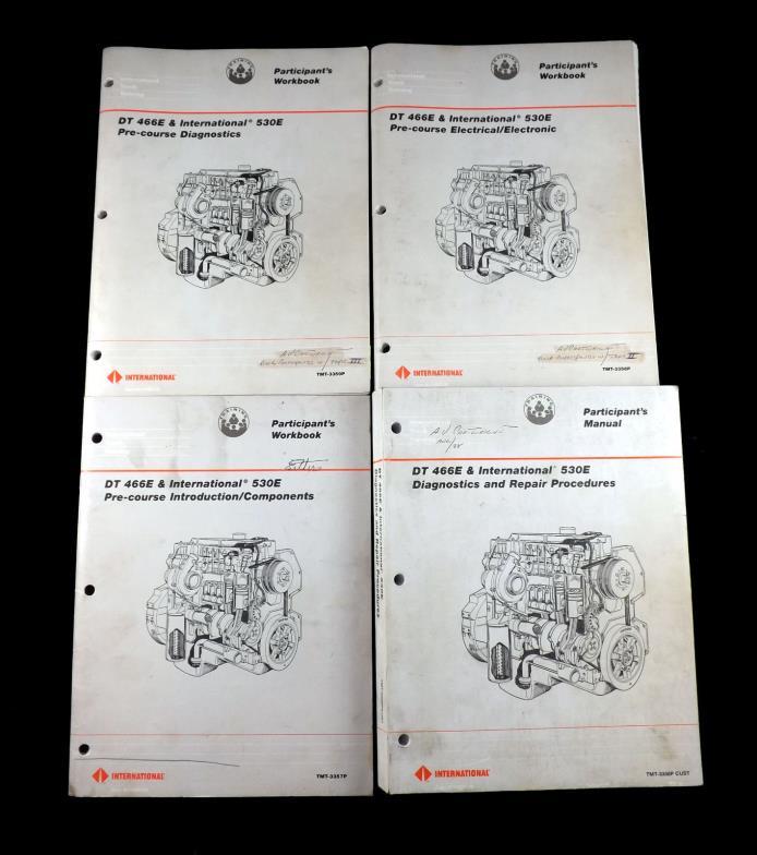 (4) INTERNATIONAL DT-466E 530E Participants Workbooks Diagnostics/Repair/Elect