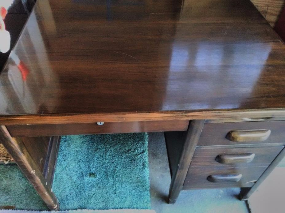 Antique Solid Wood Desk.