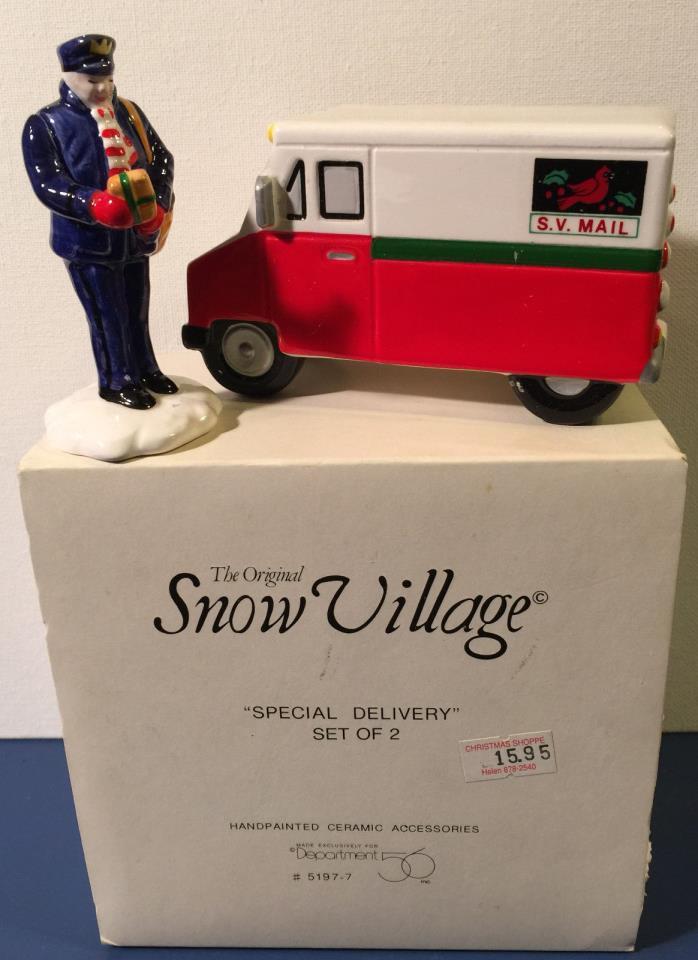 Department 56 Snow Village Special Delivery NIB