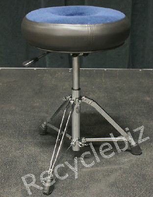 NEW! Roc n' Soc Nitro Rider Blue Round Drum Throne The Most Comfortable! NR-RB