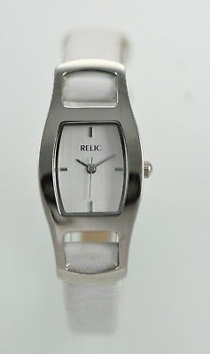 Relic Women's Silver Stainless Steel Quartz Watch for Parts or Repair Only