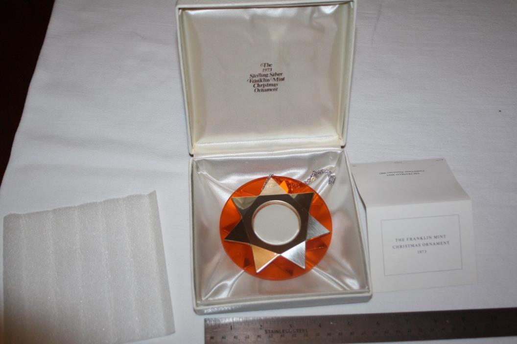 Franklin Mint Sterling Silver Christmas Ornament 1973 Star