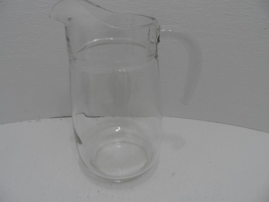 ARC France Signed Glass Water Pitcher 9