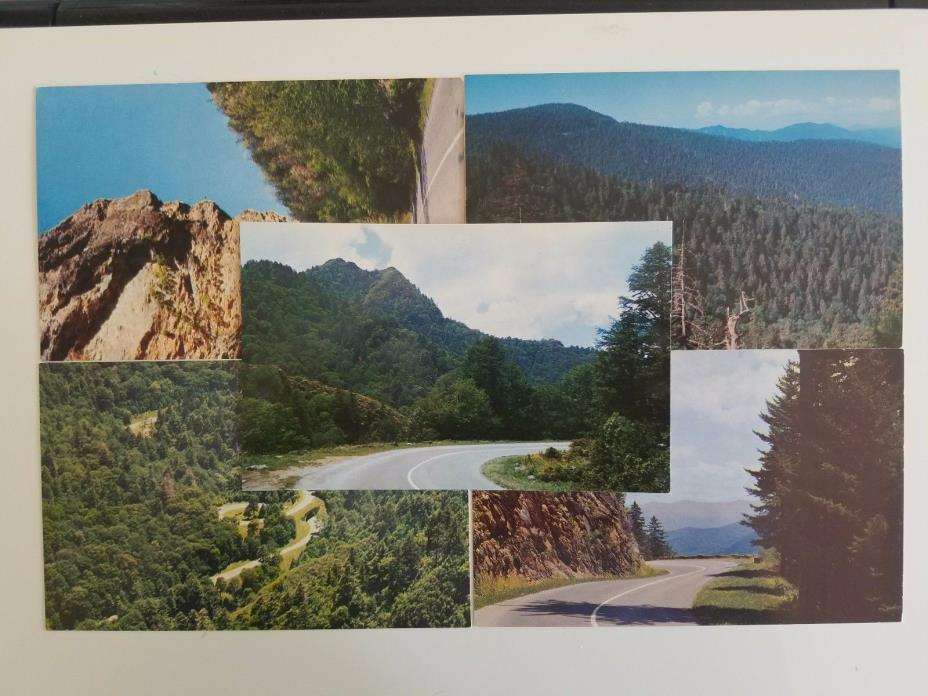9 - 1950'S GREAT SMOKEY MTNS. NATIONAL PARK COLORED POSTCARDS.