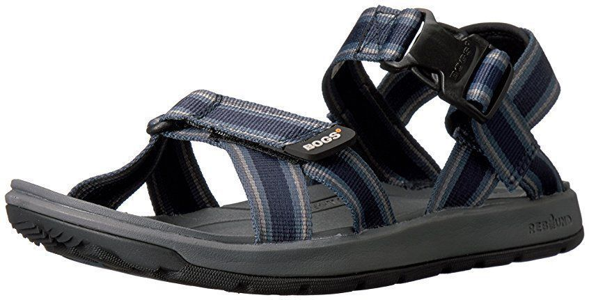 BOGS RIO STRIPES ATHLETIC SANDALS MENS 10 BLACK/ MULTI NWT