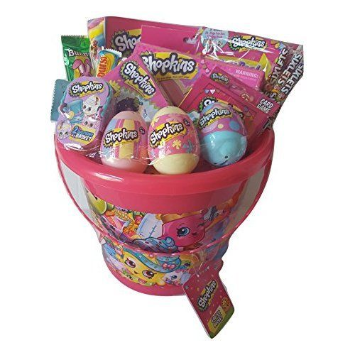 Shopkins Theme Easter Activity Pink Gift Basket