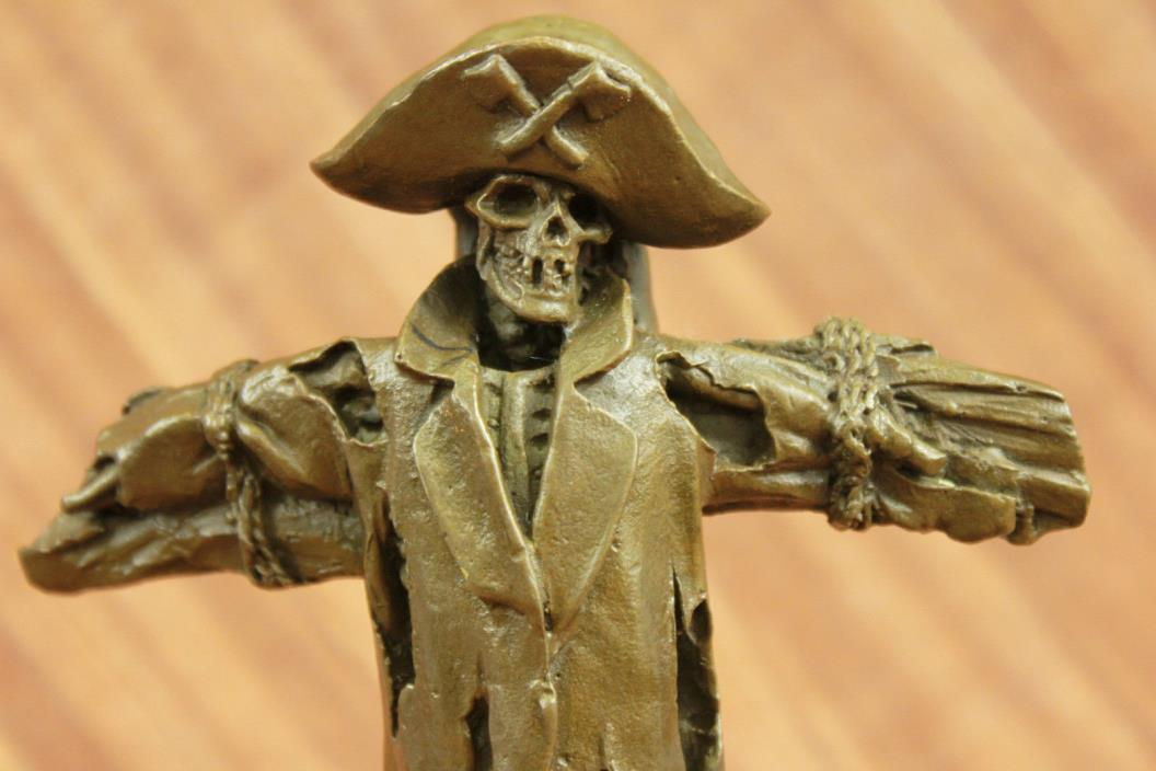 Huge Sale DECO FRENCH BRONZE STYLE METAL FIGURAL PIRATE SKULL SKELETON FIGURE