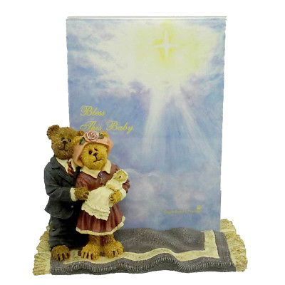 Boyds Bears Resin JAMES & KATHLEEN W/ BABY BLESSINGS Baby Bearstone  1E 27323