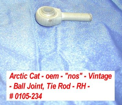Arctic Cat Front Steering Tie Rod - Ball Joint, RH # 0105-234 NOS 1971-73 EXT