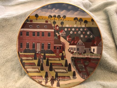 The Colonial Heritage Series Museum Editions plate # 1118 Pennsbury Manor