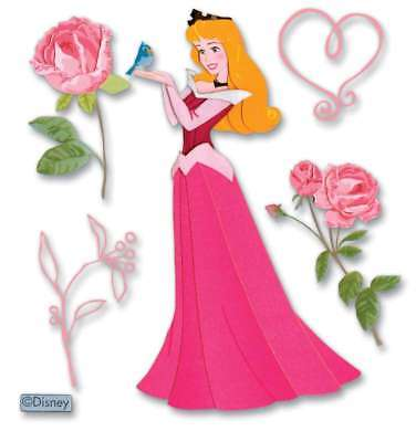 Disney Dimensional Stickers Sleeping Beauty W/Rose 015586739121