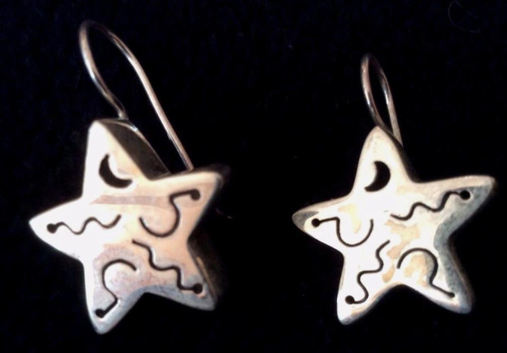Silpada W0130 Sterling Silver .925 Chunky Star Earrings - French Wires