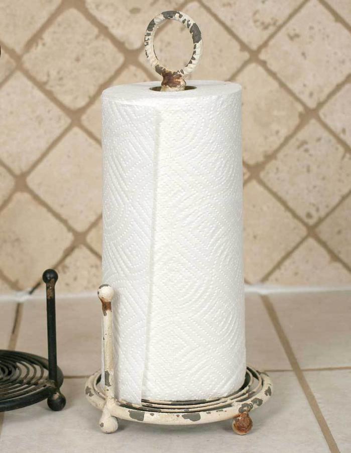 Provincial Paper Towel Holder - Antique White