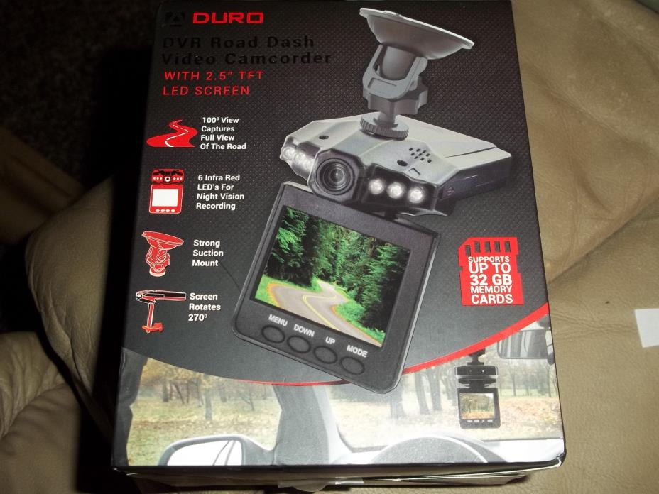 Aduro Road Dash nightvision Video / Audio Dash Cam 2.5 screen  NEW UNOPENED