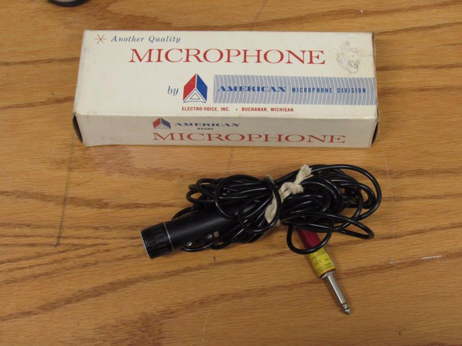 VTG American Microphone Co. D-30 HI-Z Omnidirectional Dynamic Mic Free Shipping