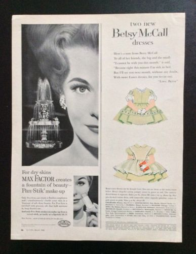 Vintage Betsy McCall Mag. Paper Dolls, Betsy's Two New Dresses, March 1960