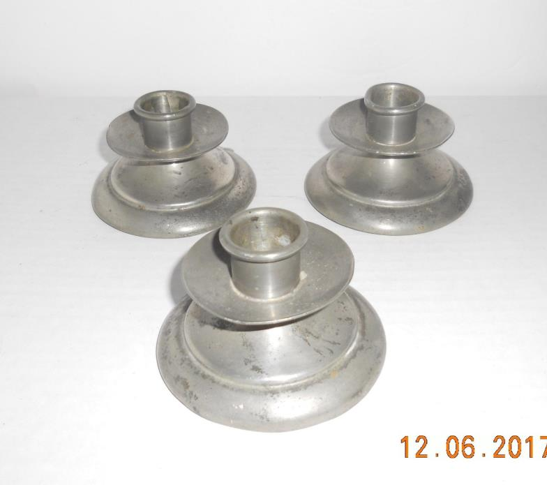 Pewter Candle Sticks Holders Mayflower 3251 Pewter Candle Sticks Holders, 3